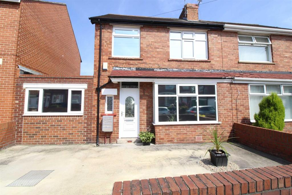 3 Bedrooms Semi Detached House for sale in Glanton Road, North Shields