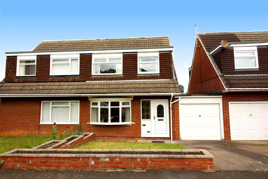 3 Bedrooms Semi Detached House for sale in Hersham Close, Kingston Park, Newcastle Upon Tyne
