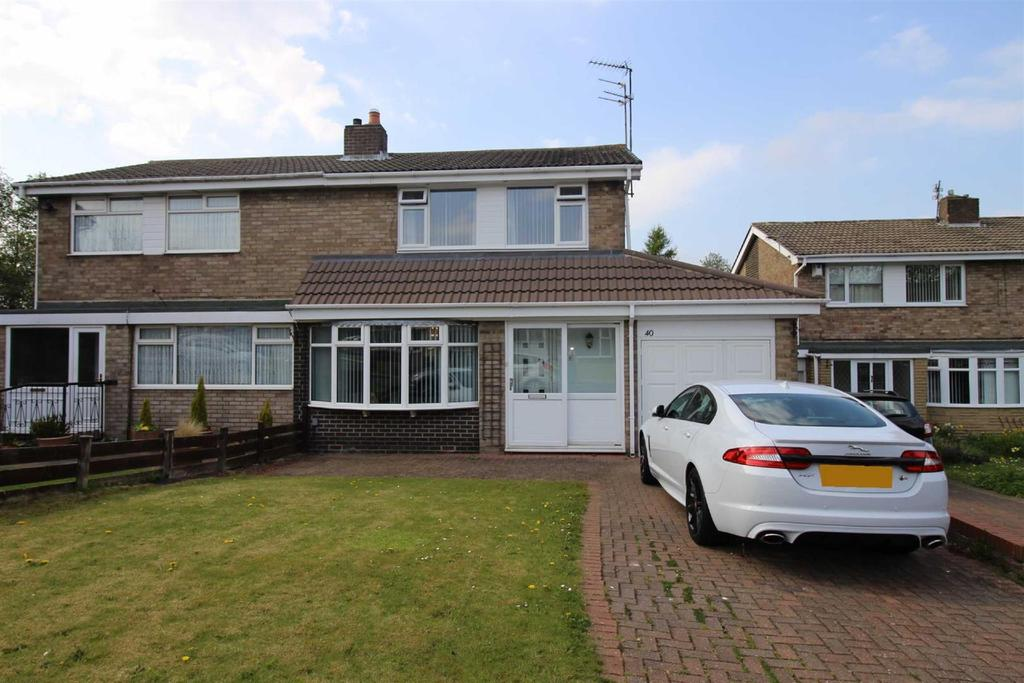 3 Bedrooms Semi Detached House for sale in St Buryan Crescent, Cheviot View, Newcastle Upon Tyne