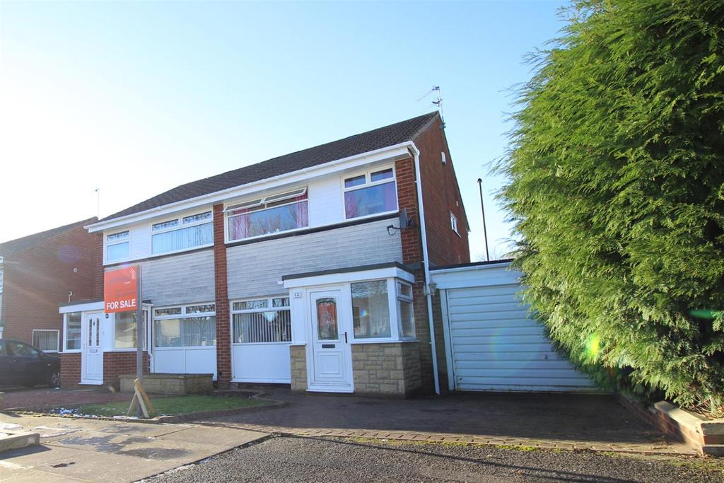 3 Bedrooms Semi Detached House for sale in Chichester Close, Kingston Park, Newcastle Upon Tyne