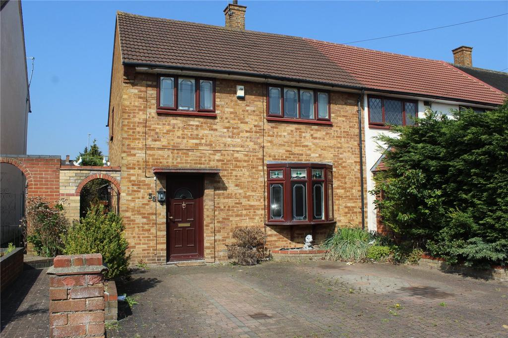 3 Bedrooms End Of Terrace House for sale in Dewsbury Road, Romford, RM3