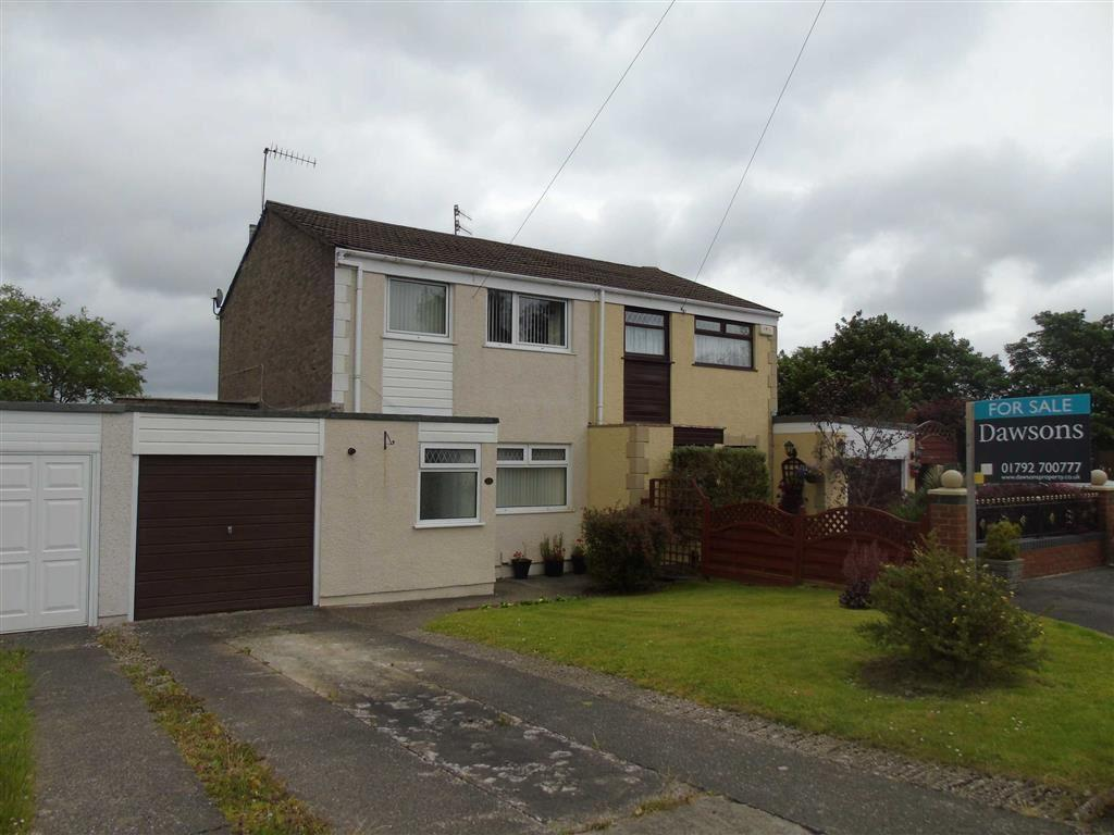 3 Bedrooms Semi Detached House for sale in Brangwyn Close, Pinewood Estate, Swansea
