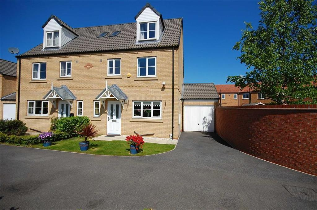 4 Bedrooms Semi Detached House for sale in Bracken Court, Sherburn-In-Elmet, Leeds, LS25
