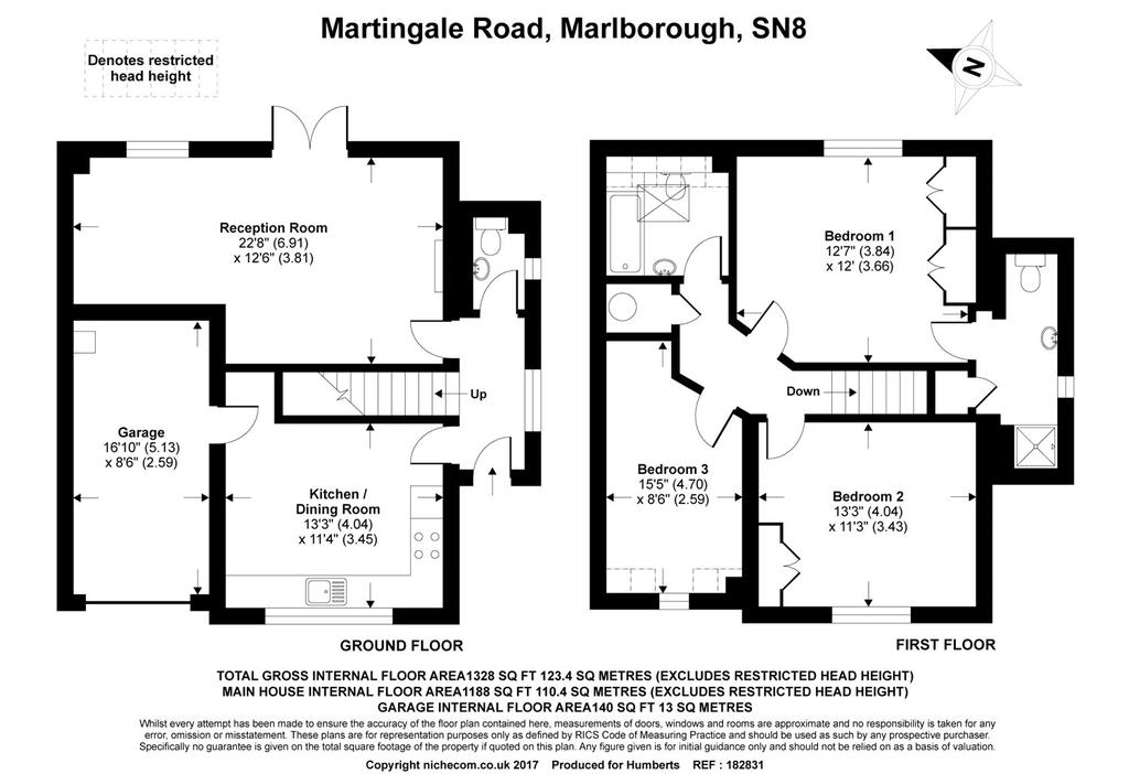 Martingale road burbage marlborough wiltshire 3 bed for Marlborough house floor plan