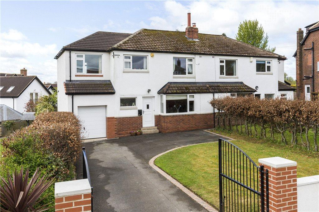 4 Bedrooms Semi Detached House for sale in The Birches, Bramhope, Leeds, West Yorkshire