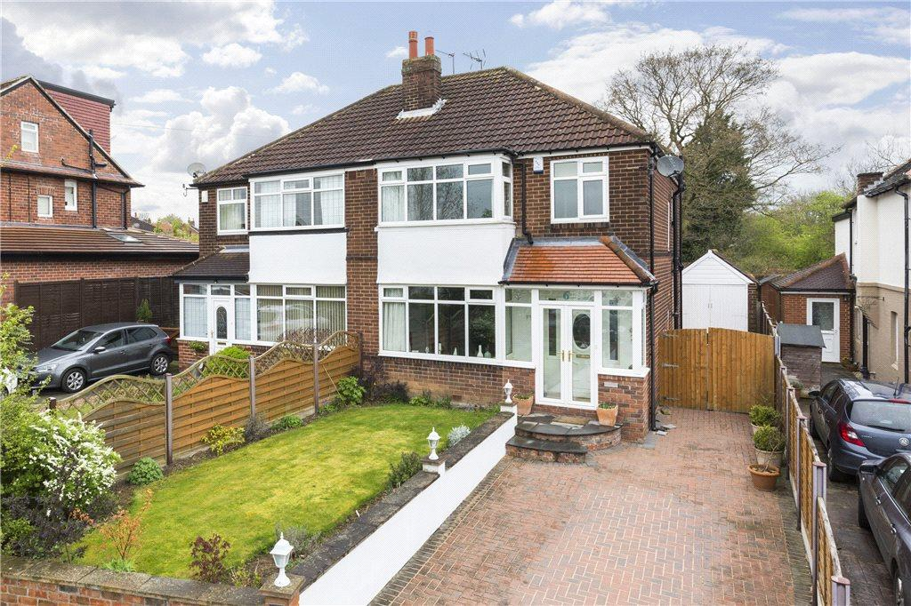 3 Bedrooms Semi Detached House for sale in The Poplars, Bramhope, Leeds, West Yorkshire