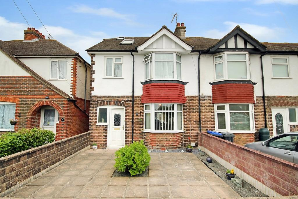 4 Bedrooms Semi Detached House for sale in Grand Avenue, Lancing,BN15