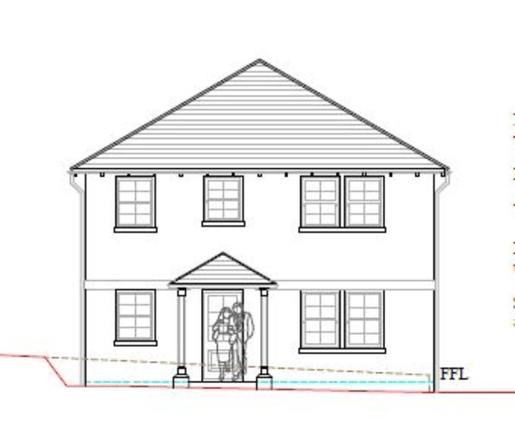 Front Elevation Of Wc : Norton green isle of wight land £