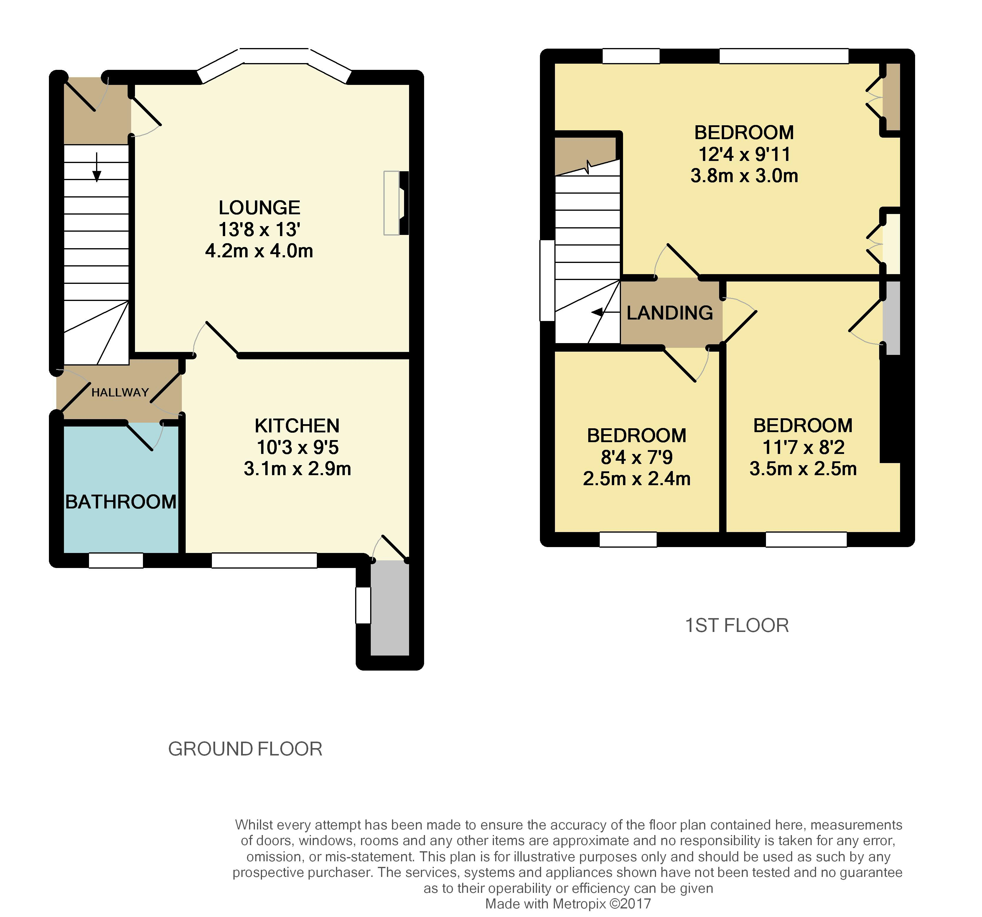 Whitley wood road reading 3 bed semi detached house for for Reading a floor plan