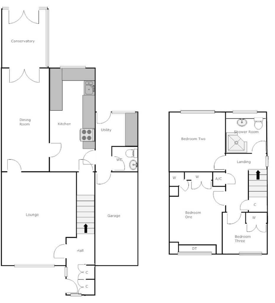 Highgrove close willenhall 3 bed link detached house for Highgrove house floor plan