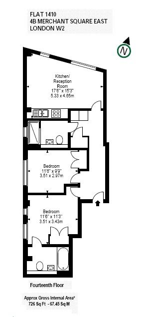 Floorplan: 726 sq ft