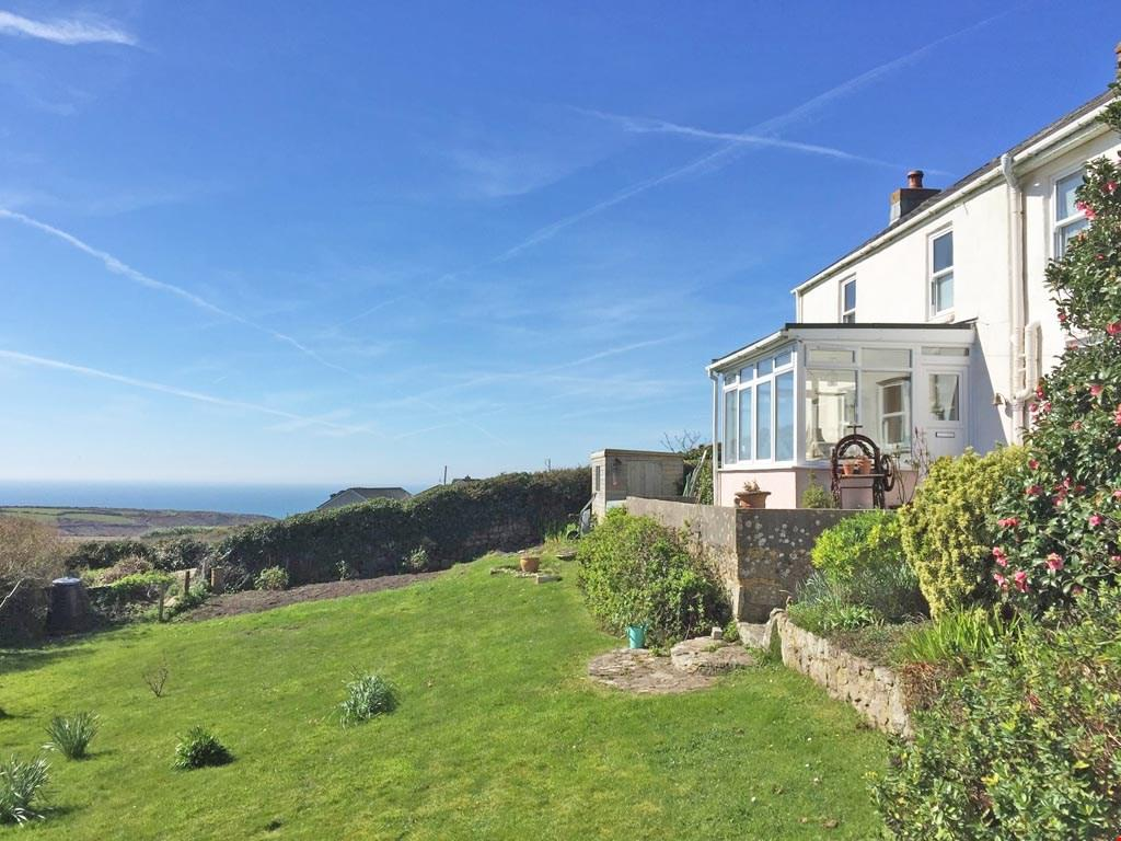 3 Bedrooms Detached House for sale in Higher Bosavern, St Just-in-Penwith, Nr. Penzance, West Cornwall, TR19
