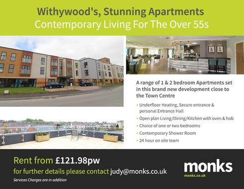 Withywood, Ellesmere Road, Shrewsbury 2 bed apartment