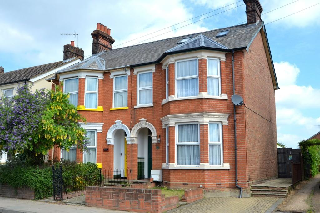4 Bedrooms Semi Detached House for sale in Felixstowe Road, Ipswich, Suffolk, IP3 9BT