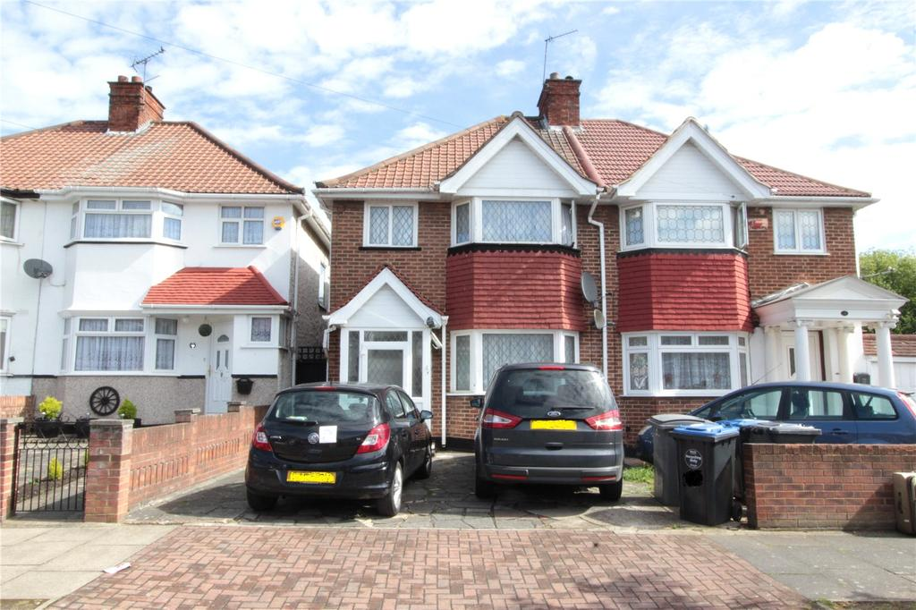 3 Bedrooms Semi Detached House for sale in Tudor Court South, Wembley, HA9