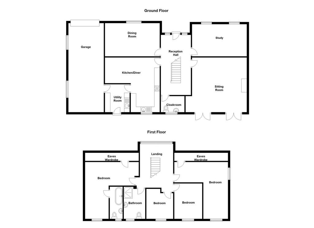 Grove green weavering maidstone 4 bed barn conversion for Barn conversion floor plans