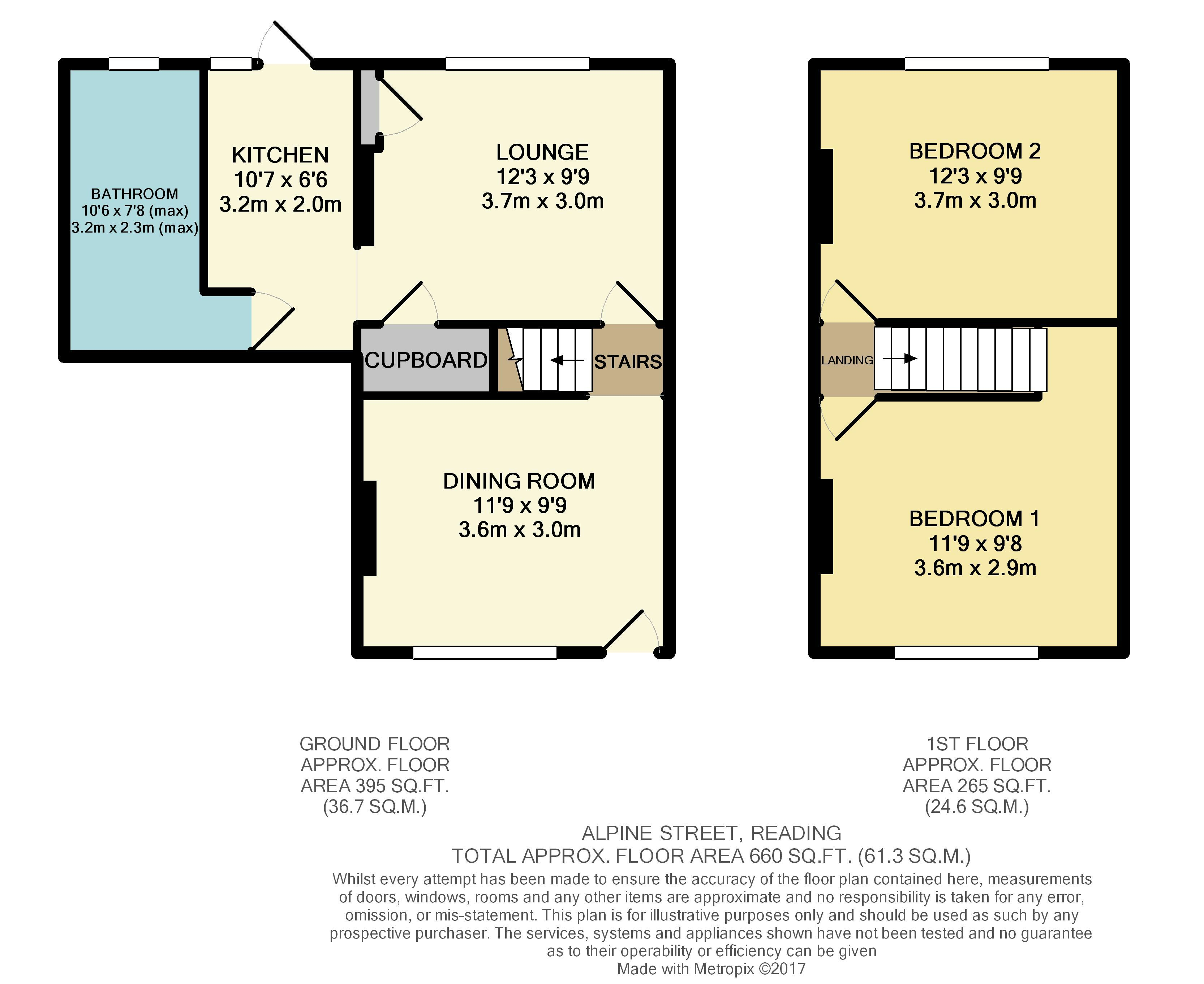 Alpine street reading 2 bed terraced house 275 000 for Reading a floor plan