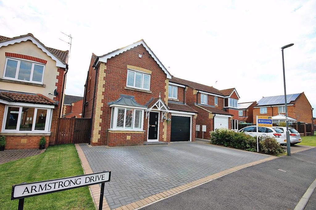 4 Bedrooms Detached House for sale in Armstrong Drive, Willington, Crook