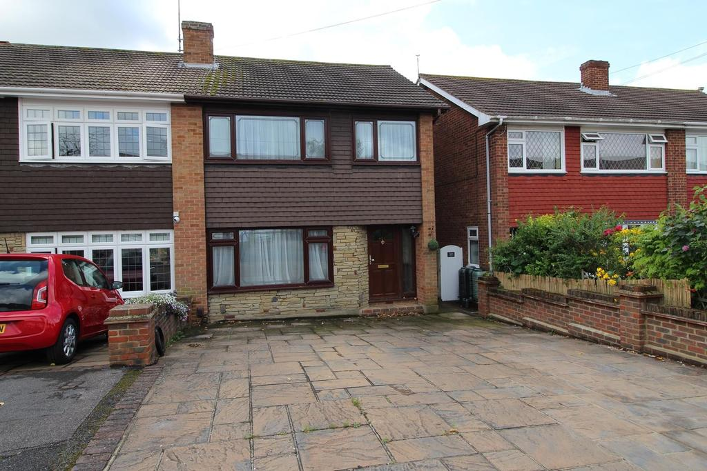 3 Bedrooms Semi Detached House for sale in Limerick Gardens, Upminster, Essex, RM14