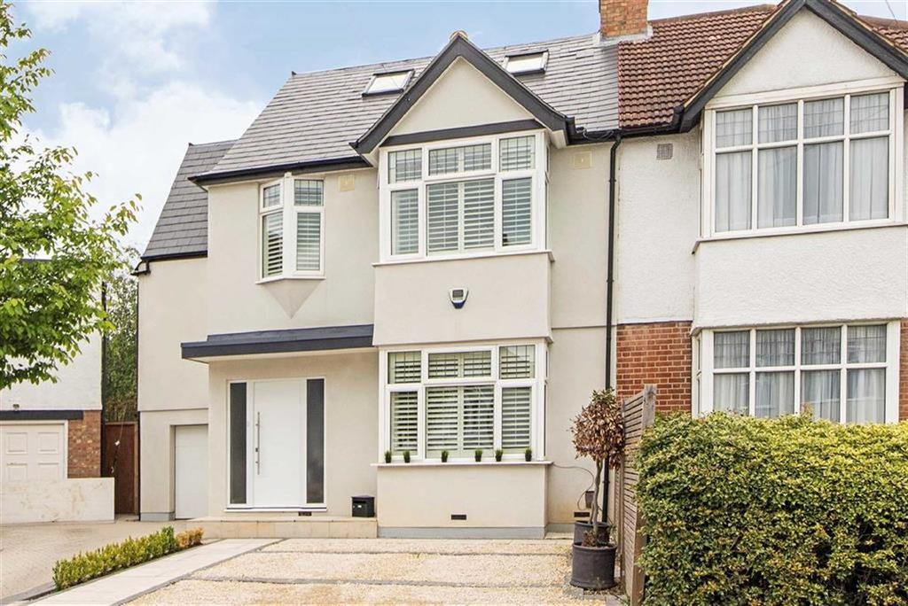 5 Bedrooms Semi Detached House for sale in Elm Walk, Raynes Park, London