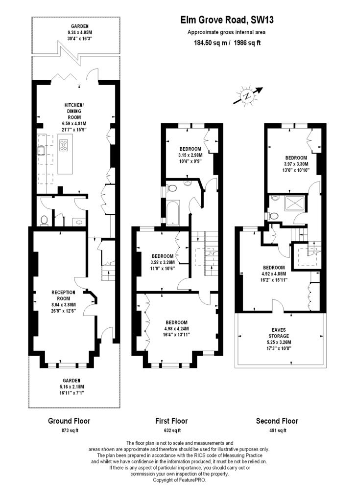Elm Grove Road, Barnes, London 5 bed terraced house for ...