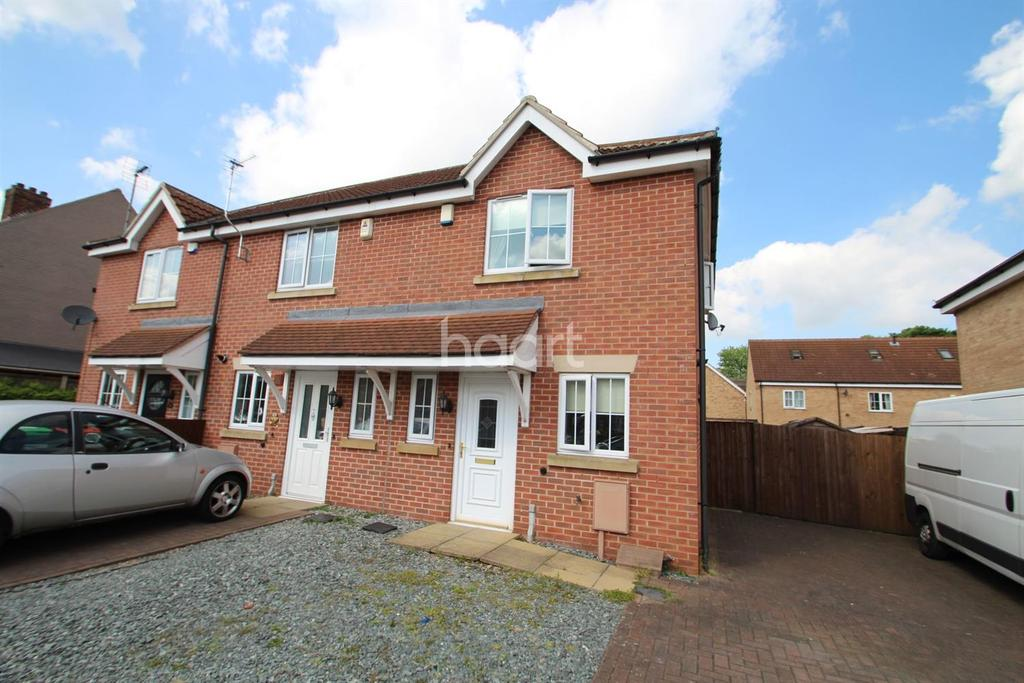 2 Bedrooms Semi Detached House for sale in Robins Row, Hucknall