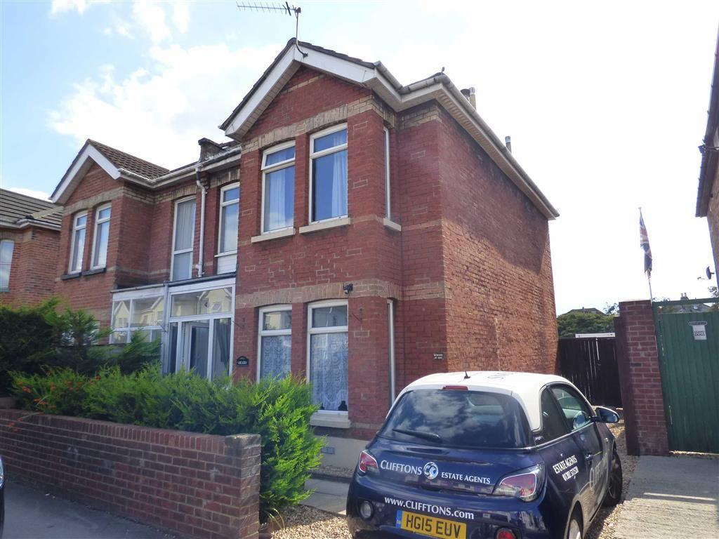 4 Bedrooms Semi Detached House for sale in Ashley Road, Kings Park, Bournemouth, Dorset