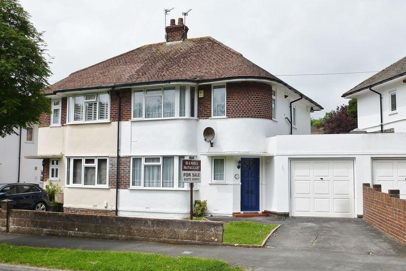 3 Bedrooms Semi Detached House for sale in Mackie Avenue, Patcham, Brighton, East Sussex,