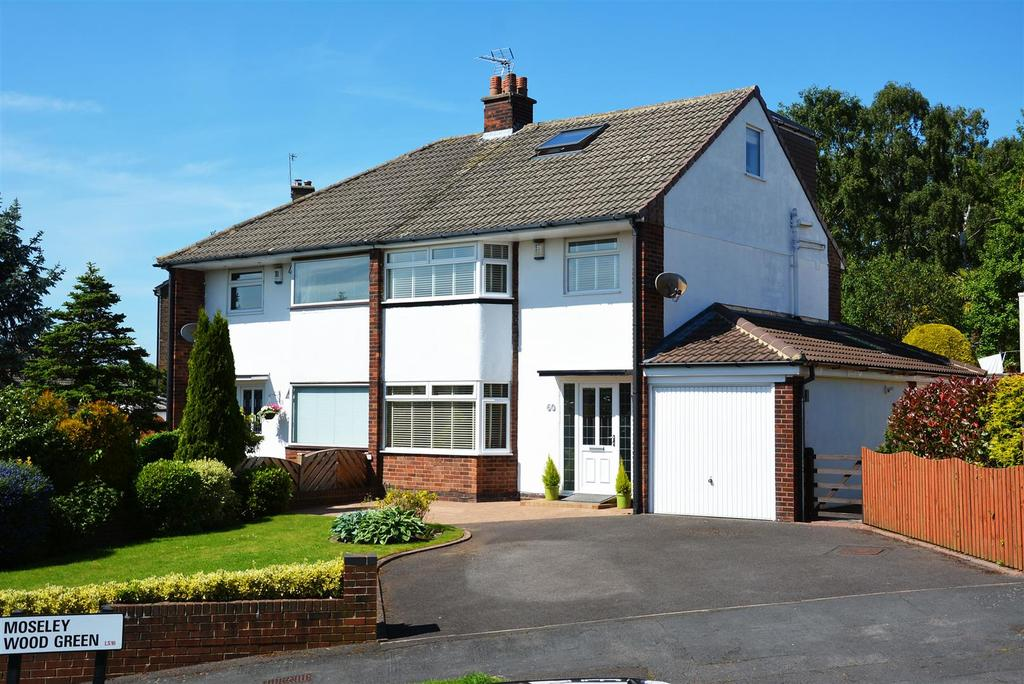 4 Bedrooms Semi Detached House for sale in Moseley Wood Green, Cookridge