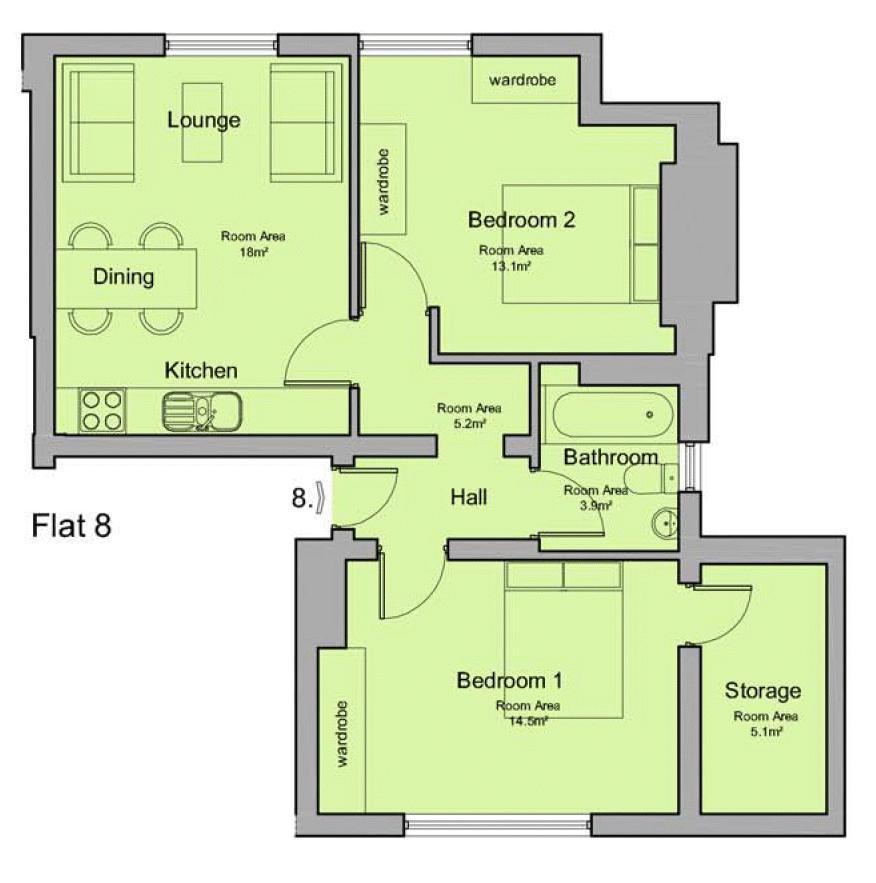 Floorplan: Flat 8 29 Bargate