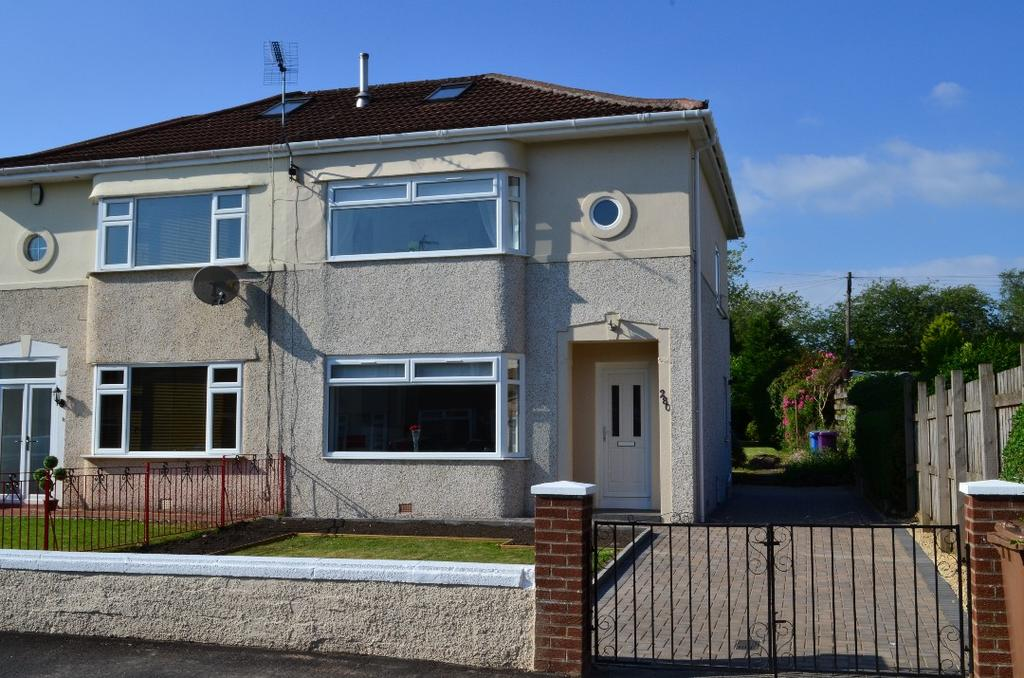 3 Bedrooms Semi Detached House for sale in Keal Drive, Knightswood, Glasgow, G15 6XA