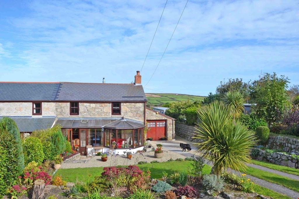 3 Bedrooms Semi Detached House for sale in Grumbla, Sancreed, Nr. Penzance, West Cornwall, TR20