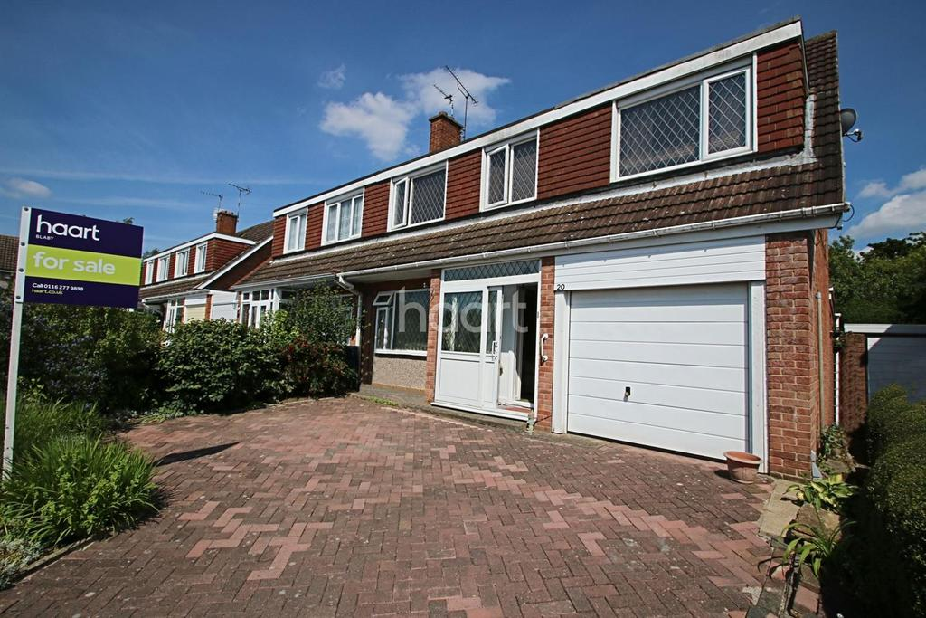 3 Bedrooms Semi Detached House for sale in Nuttall Grove, Glen Parva, Leicestershire