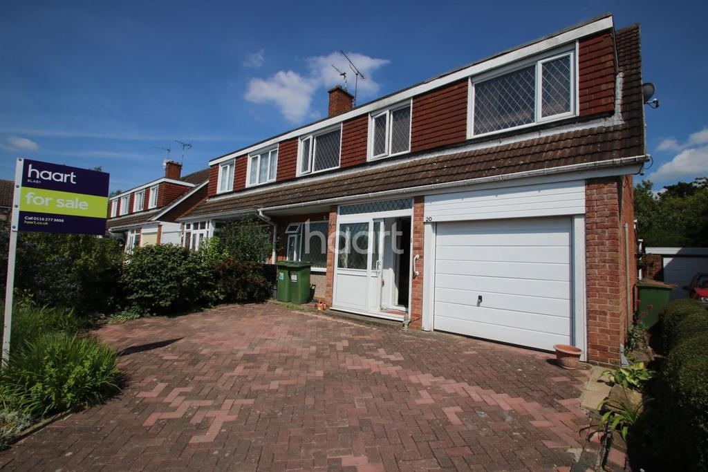3 Bedrooms Semi Detached House for sale in Nuthall Grove, Glen Parva, Leicestershire