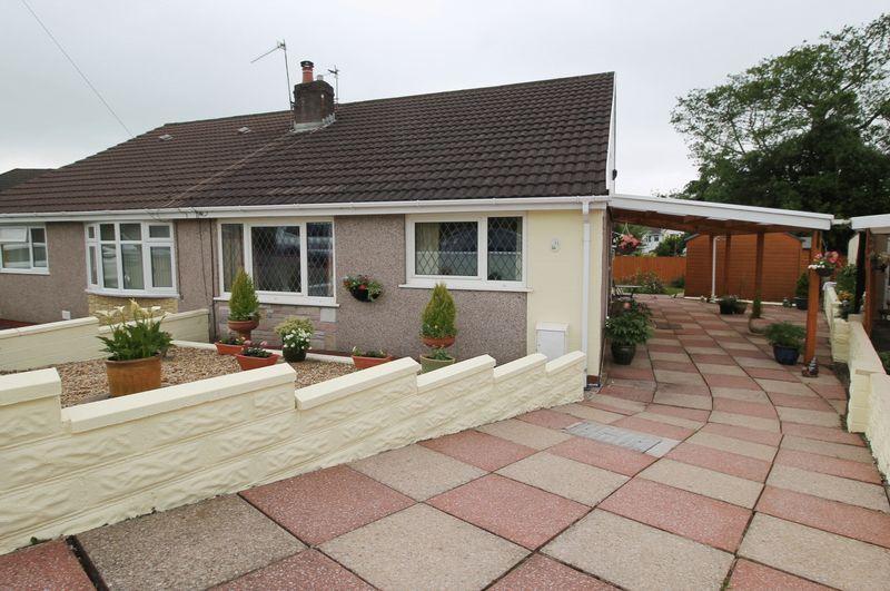 2 Bedrooms Semi Detached Bungalow for sale in Heol Clwyddau, Beddau, CF38 2LW