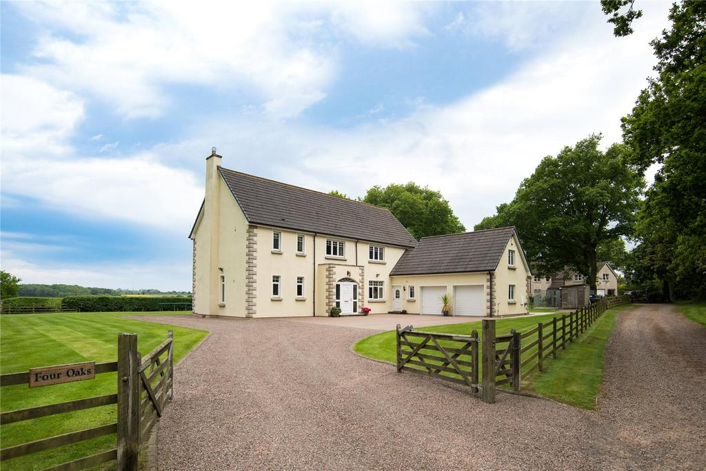 4 Bedrooms Detached House for sale in Four Oaks, Broomdykes, Duns, Berwickshire