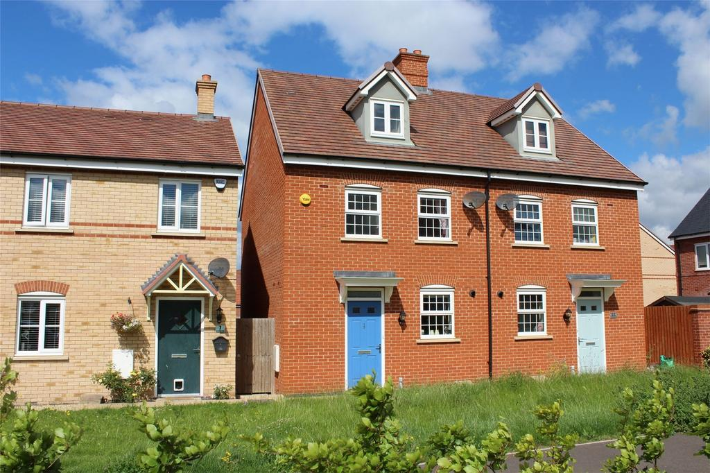 4 Bedrooms Semi Detached House for sale in Buttercup Road, Stotfold, Hitchin, Hertfordshire
