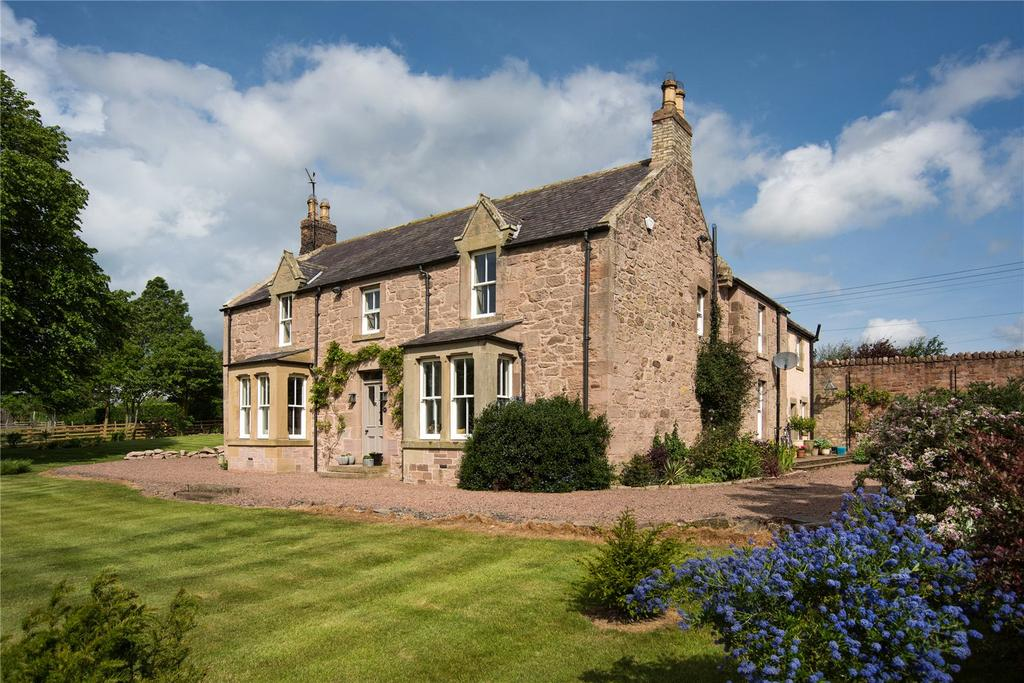 5 Bedrooms Detached House for sale in Butterlaw Farmhouse, Butterlaw, Coldstream, Berwickshire, Scottish Borders