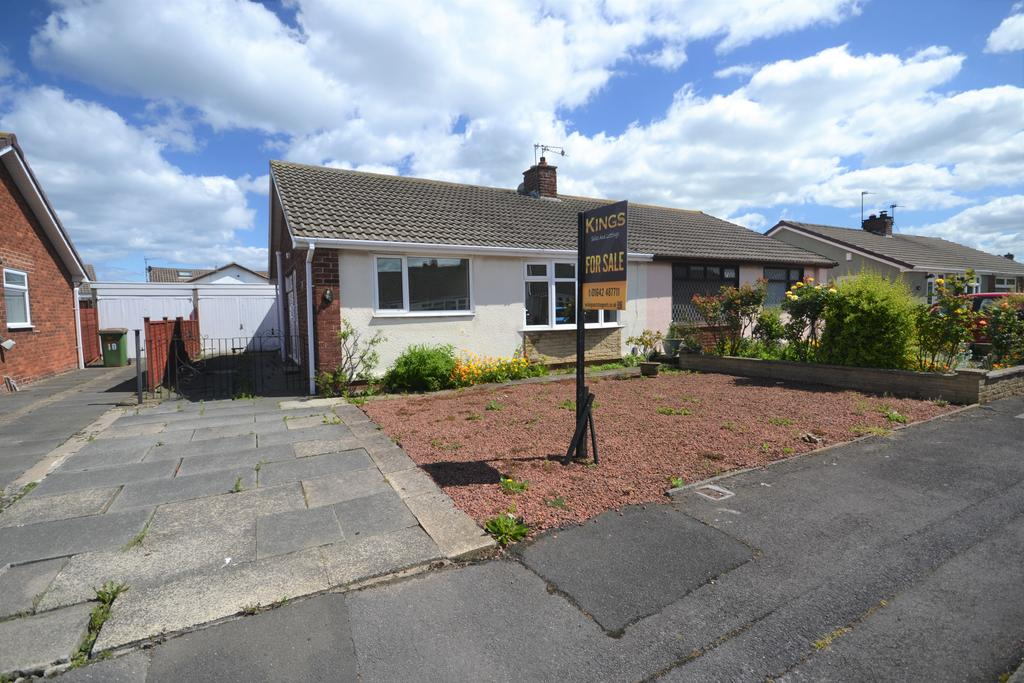2 Bedrooms Semi Detached Bungalow for sale in Bamburgh Close, Redcar TS10