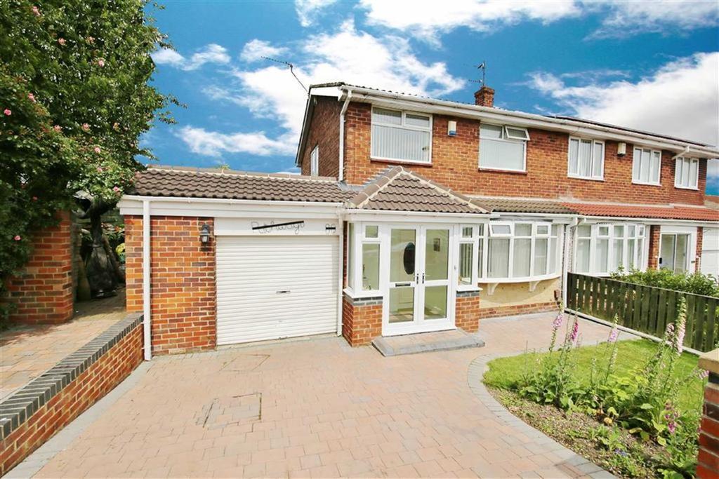 3 Bedrooms Semi Detached House for sale in Vicarage Close, Silksworth, Sunderland, SR3