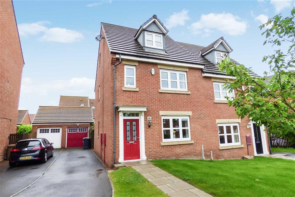4 Bedrooms Semi Detached House for sale in Dukesfield, Earsdon View