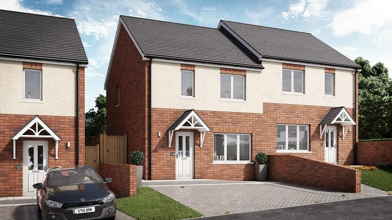 2 Bedrooms Semi Detached House for sale in Willow, Plot 14 Waunsterw , Rhydyfro, Pontardawe.