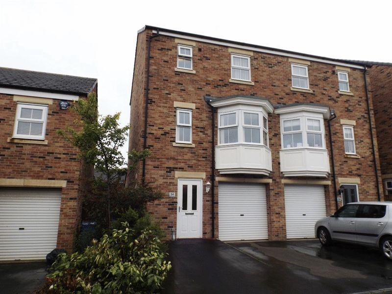 4 Bedrooms Semi Detached House for sale in Beaumont Court, Morpeth