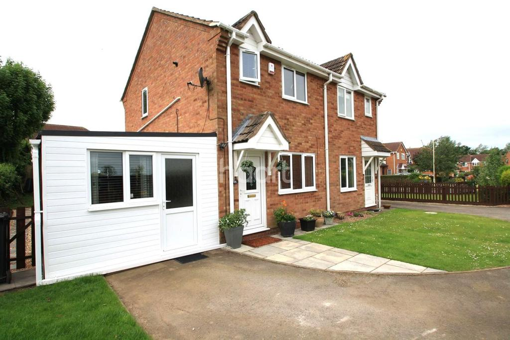 2 Bedrooms Semi Detached House for sale in Manton Close, Broughton Astley, Leicestershire