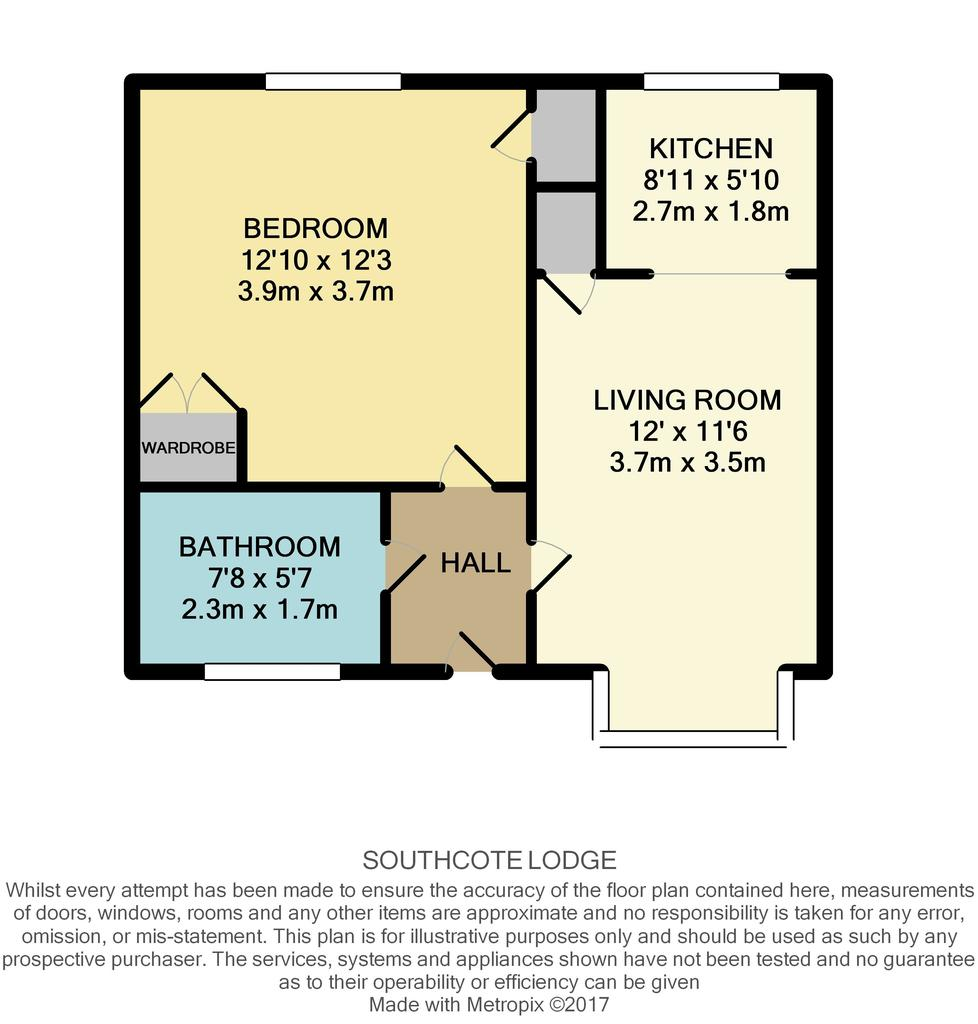 Southcote lodge southcote reading 1 bed flat for sale for Reading a floor plan