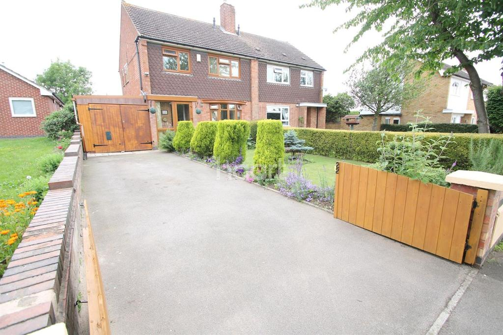 3 Bedrooms Semi Detached House for sale in Cork Lane, Glen Parva, Leicester