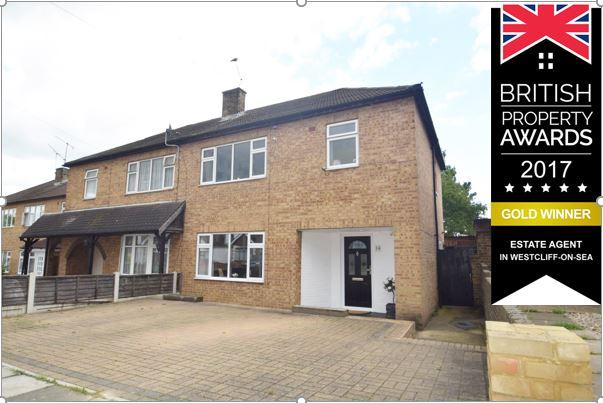 3 Bedrooms Semi Detached House for sale in Northville Drive, Westcliff On Sea, SS0