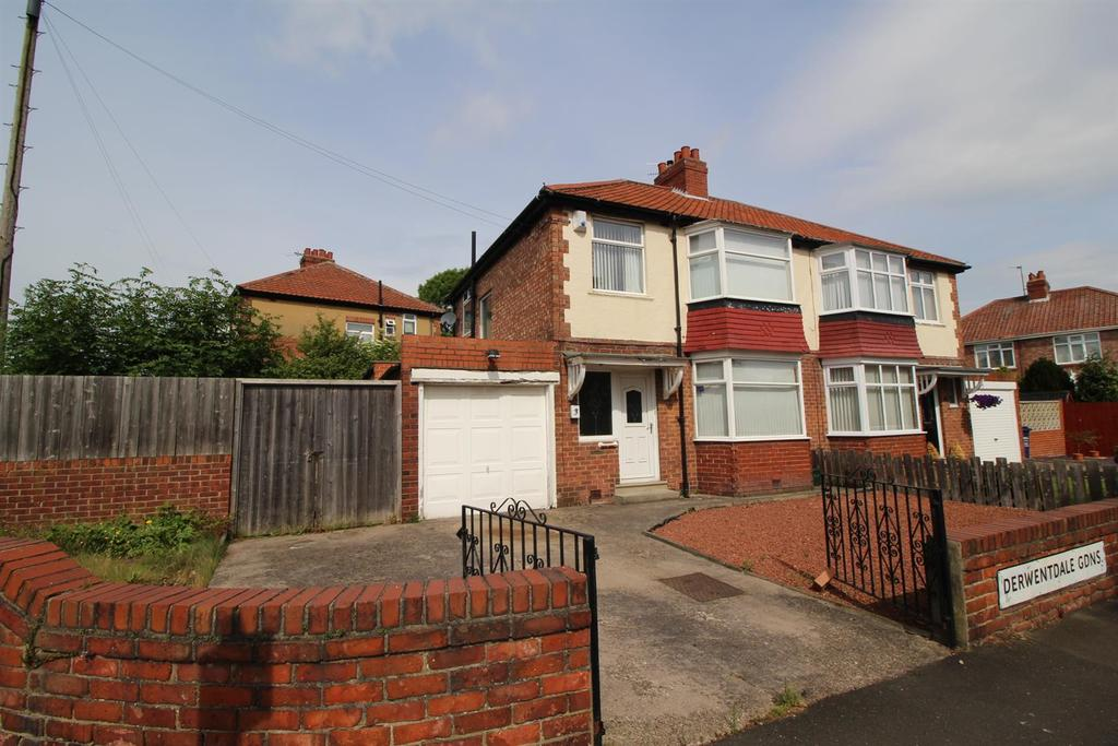 3 Bedrooms Semi Detached House for sale in Derwentdale Gardens, High Heaton, Newcastle Upon Tyne