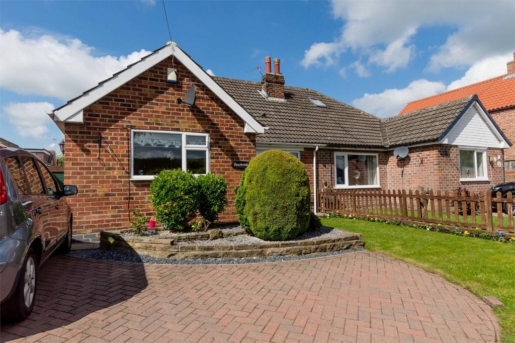 3 Bedrooms Semi Detached Bungalow for sale in Back Lane, Knapton, YORK