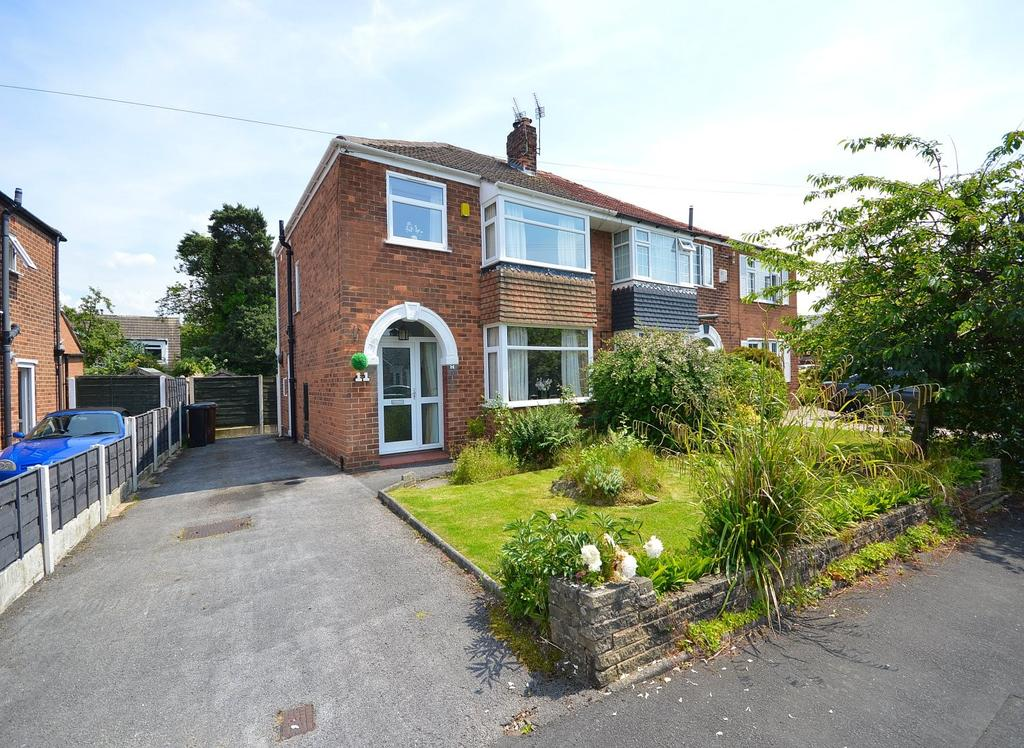 3 Bedrooms Semi Detached House for sale in Mona Avenue, Heald Green